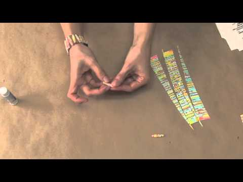 Craft Time with Julie Mack - Recycled paper bead cuff bracelet