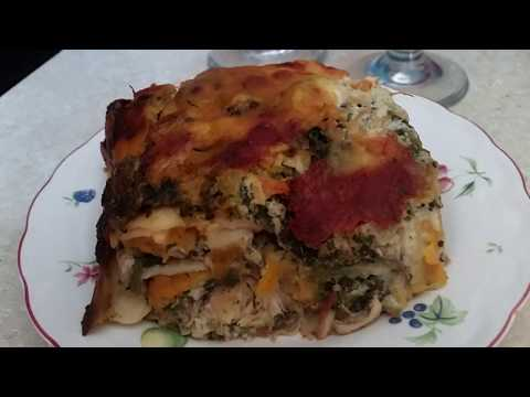 White Cheese Chicken Spinach Lasagna