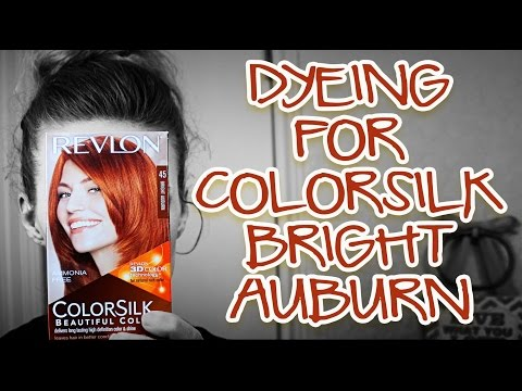 Dyeing for Revlon ColorSilk Bright Auburn 45 + brightening my ends!