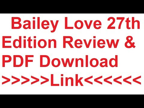 Bailey & Love  27th Download review & PDF download  link
