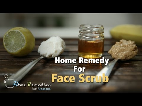 How To Make Face Scrub At Home | Homemade Face Scrub Recipes | Home Remedies With Upasana