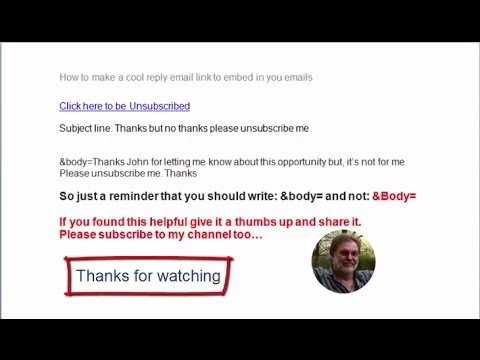 How to make a cool reply email link to embed in your emails