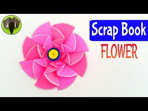 ScrapBook Flower - Diwali |Christmas decorations - DIY Tutorial by Paper Folds ❤️
