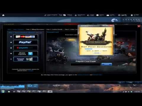 League of Legends Riot Points Generator [ 2nd March 2013 ]