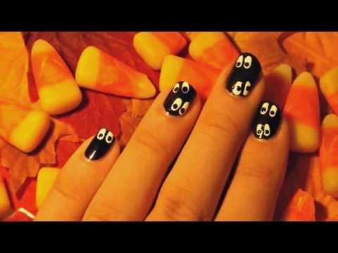 Easy Halloween 'Eyes In The Dark' Nails