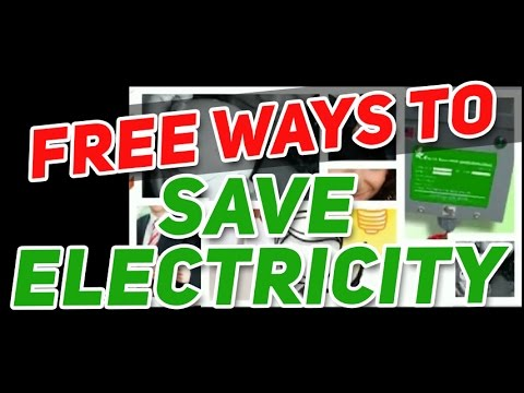 Free Ways to Save Electricity
