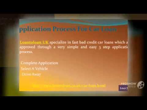 Get Bad Credit Car Loan in UK - Loantoloan UK