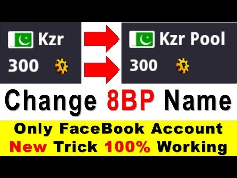 How to Change 8 Ball Pool Name - Facebook Account - Latest Trick 100% Working