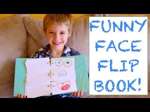 KIDS CRAFTS! Funny Face Flip Book!