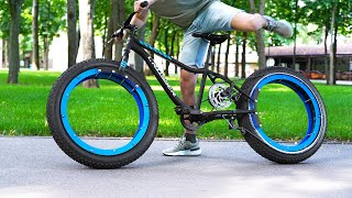 Insane Hubless Bicycle