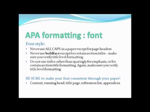 APA formatting PowerPoint Presentation