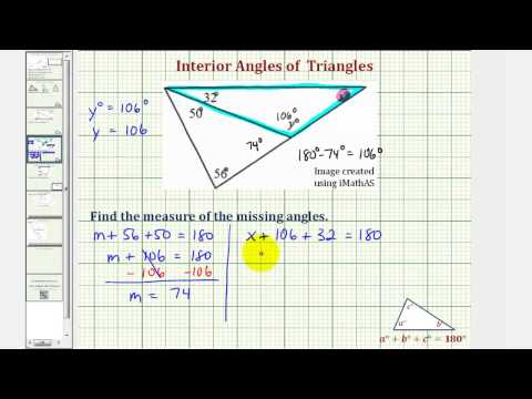 Ex 2: Find the Measure of an Interior Angle of a Triangle