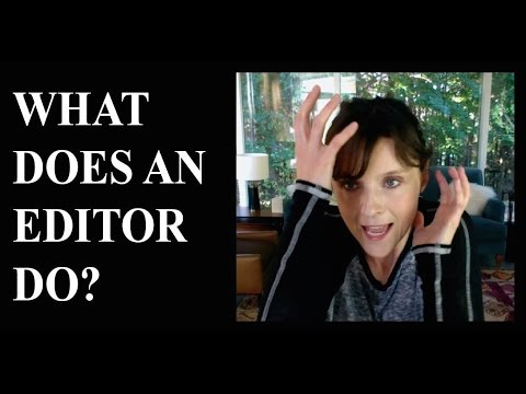 1Q2M  What does an editor do?