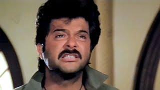 Anil Kapoor, Madhuri Dixit, Anupam Kher, Suresh Oberoi,Tezaab - Scene 18/20 (k)