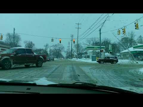 Winter Driving Through Jackson Michigan 2018