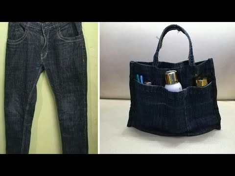 DIY Handbag/Purse Organizer From Old Jeans | Anupama Jha