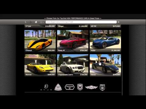 GTA 5 HOW TO BUY ALL SUPER CARS Z-TYPE, BUGATTI VEYRON, CHEETAH,LAMBORGHINI (LEGENDARY MOTOR SPORT)