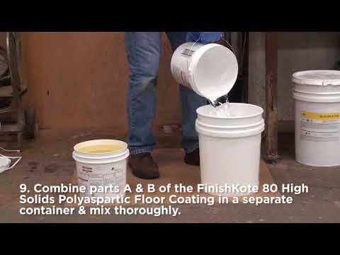 Rust-Oleum Industrial- Flooring Application- Chip System