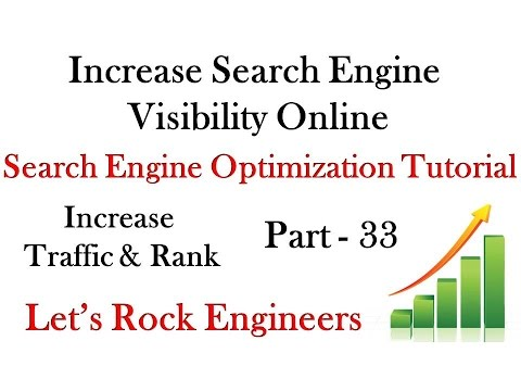 How to increase Search Engine Visibility Online - SEO Tutorial PART - 33