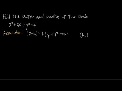 How to find the CENTER AND RADIUS of a circle (KristaKingMath)