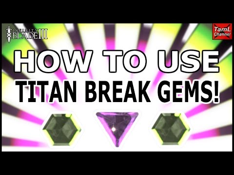 Infinity Blade 3: HOW TO USE TITAN BREAK GEMS! (HEX & TRIANGLE)