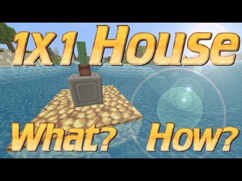 Minecraft 1x1 house: How to make a Tiny House in Minecraft | Tiny Minecraft Lets Build Tutorial