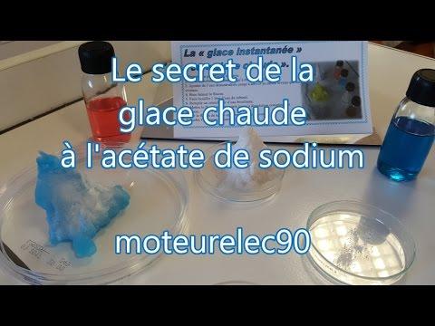 Le secret de la glace chaude à l'acétate de sodium, expérience facile !
