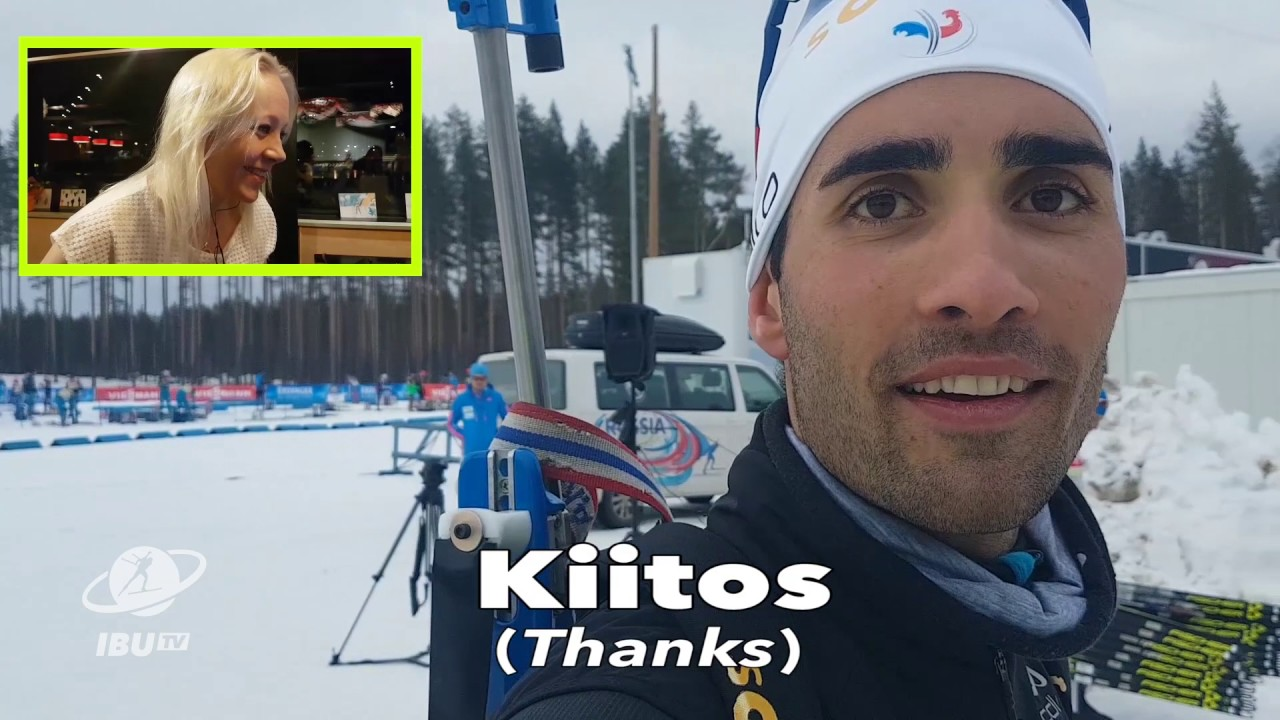 Kaisa discovers how much Finnish can the biathlon family speak