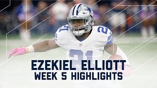 Ezekiel Elliott Eats Up Bengals Defense for 171 Yards & 2 TDs!   NFL Wk 5 Player Highlights