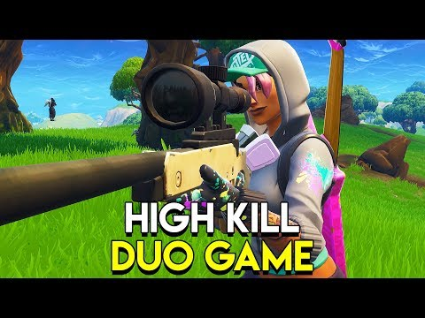 HIGH KILL DUO GAME! - Fortnite: Battle Royale