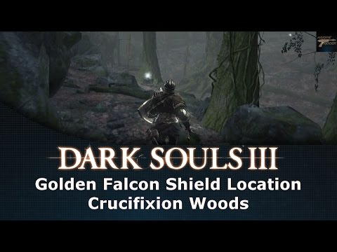 Dark Souls III Golden Falcon Shield Location Crucifixion Woods