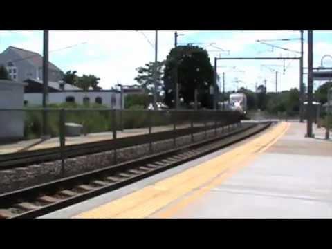 Amtrak Trains In Mystic, CT