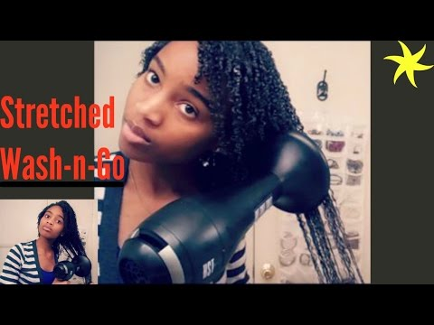 Stretched Wash And Go: Fighting Shrinkage (Type 4 Hair)