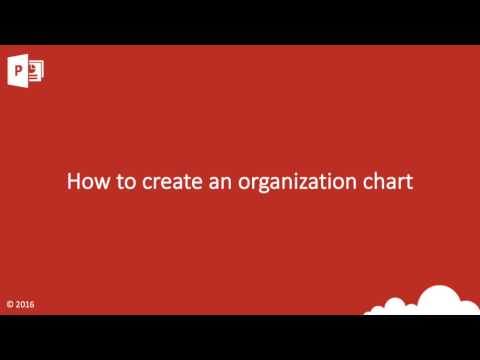PowerPoint How to create an organisation chart