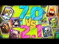 70 Deck Vs 21 Deck Clash Royale Are You Serious