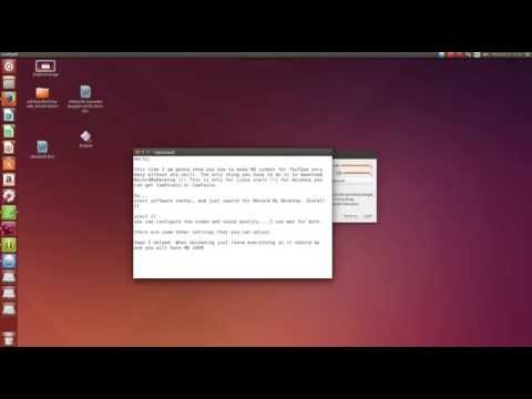 How to record HD videos on Ubuntu 14.04 LTS (HD)