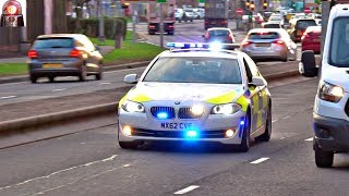 High Security Police Car Escort HMP Prisoners BMW X5 Sirens
