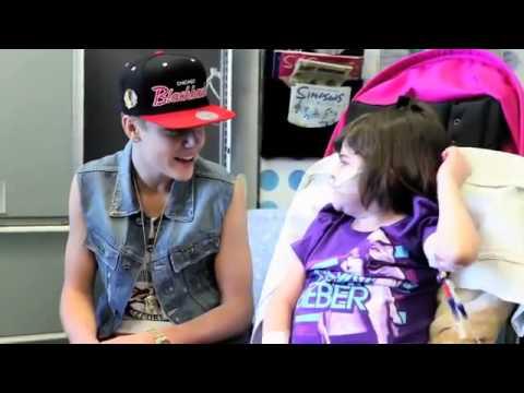 Justin Bieber Surprises Sick Children, Making Children Smile - Helping those in Need