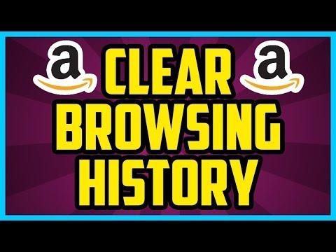 How to delete Amazon browsing history