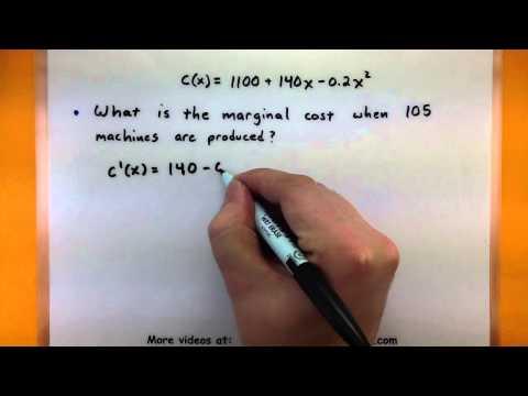 Calculus - Marginal cost