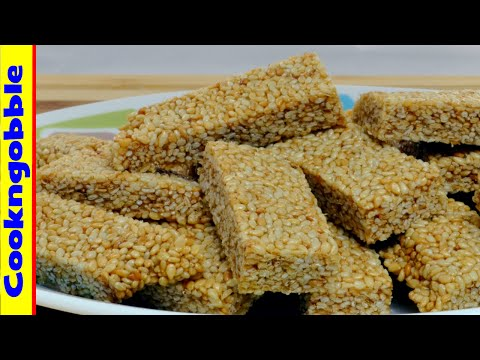 Sesame Crunch candy snack.
