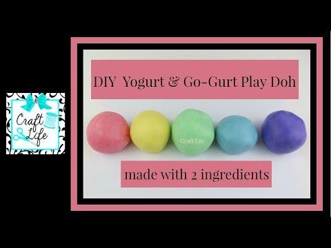 Craft Life ~ Jacy and Kacy DIY ~ Go-Gurt & Yogurt Play Doh Tutorial