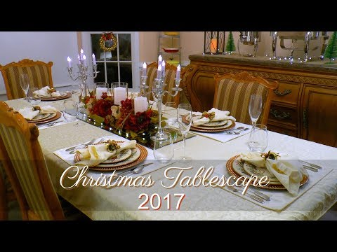 Christmas Tablescape 2017 ~ Christmas Table Decor ~ TJ Maxx, Kirklands, and Macy's