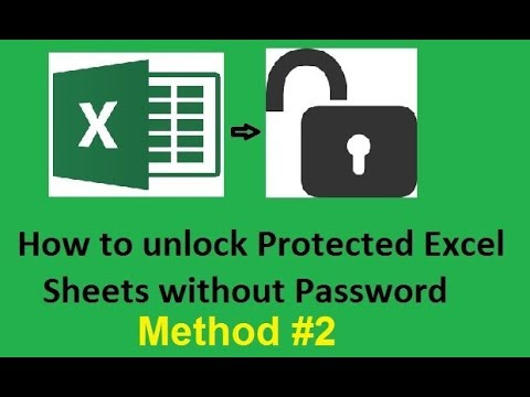 How to unlock protected Excel sheets without password  - Method 2