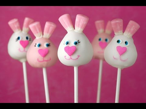 How to make Pastel Bunny Cake pops - Bakerella challenge