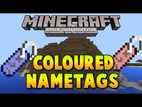 Minecraft xbox One / PS4 | How to get coloured name tags!