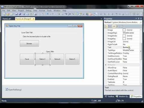 Visual Basic 2010 - Open any file using Excel, Notepad, Notepad++, Word, etc