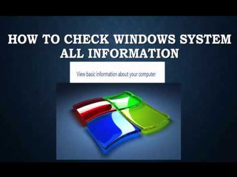 how to check easy my system all information