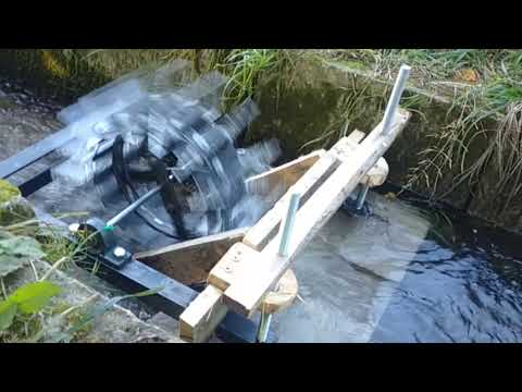 Water wheel to generate electricity - phase 1 completed