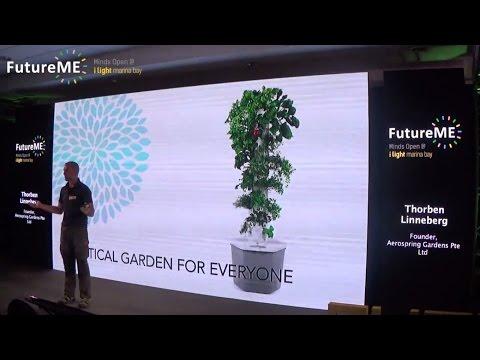 Vertical Aeroponic Gardening - Grow food on your apartment balcony | Thorben Linneberg | FutureME